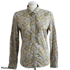 Vintage Paisley Long Sleeve Cotton Blouse